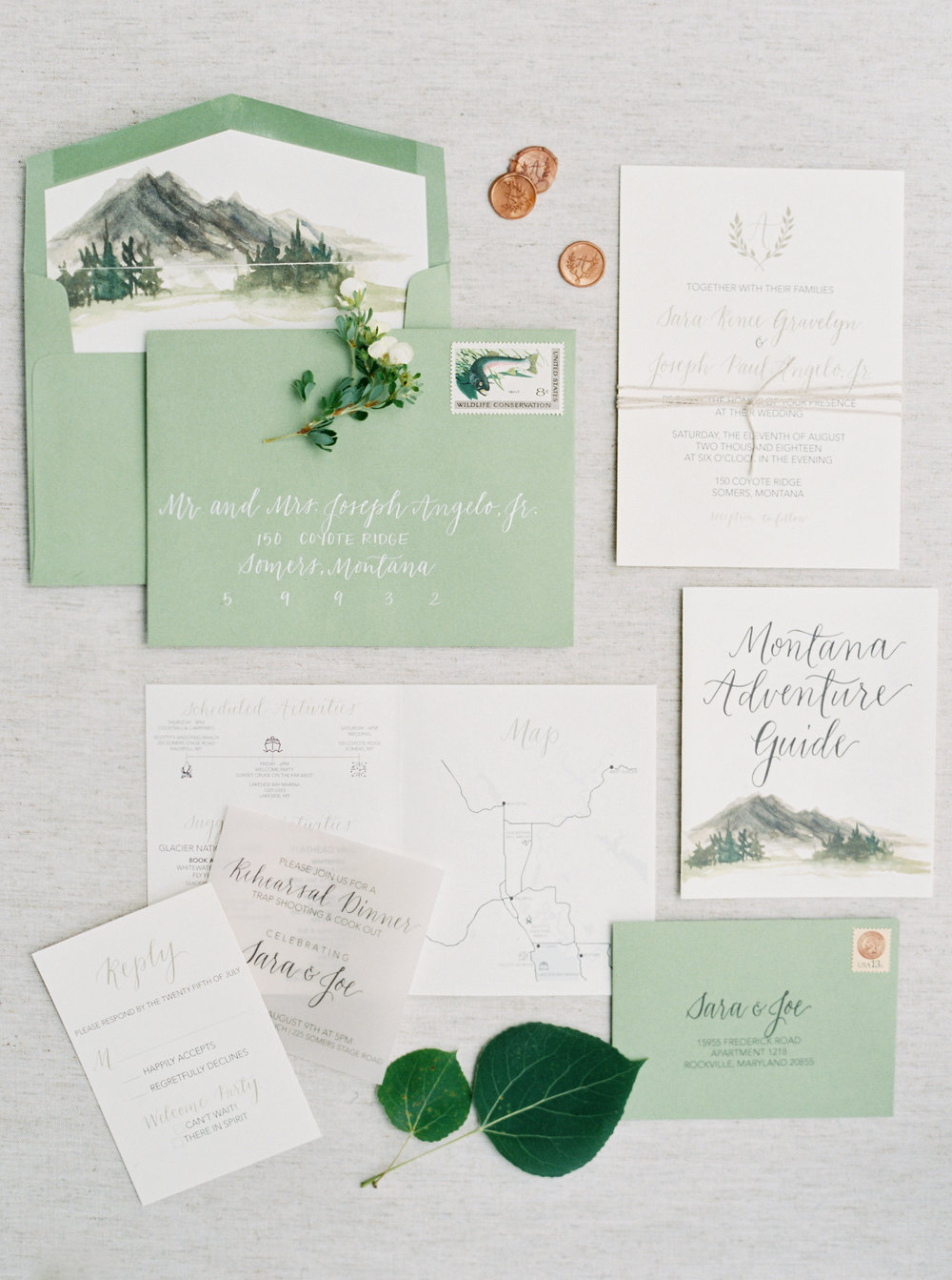 Full Wedding Stationery Design by Priscilla Anne