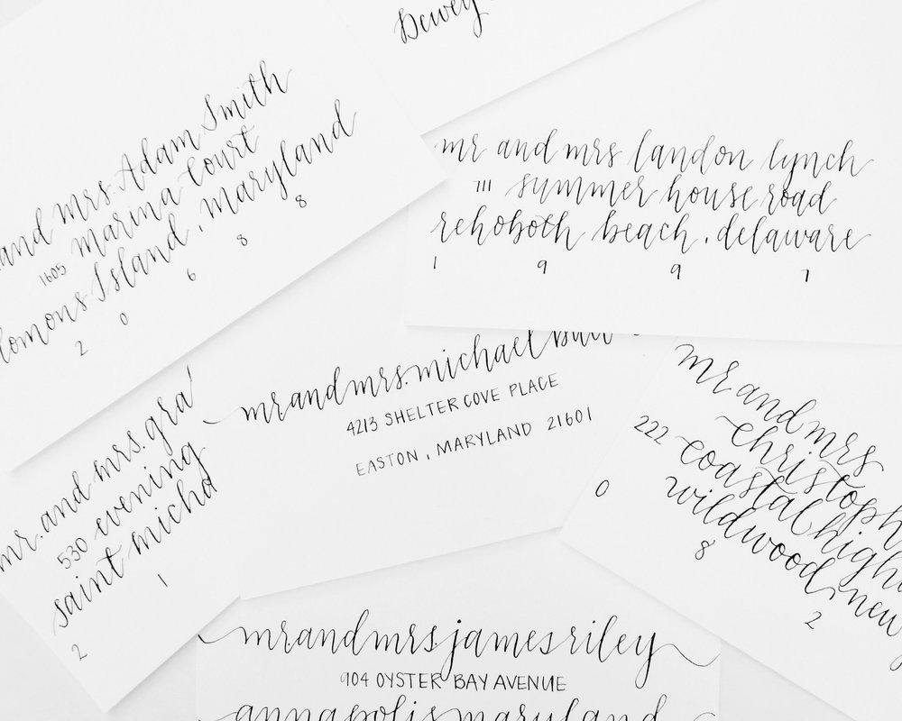 priscilla anne TN DMV envelope calligraphy