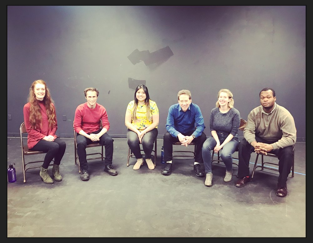 THIS AWESOME GROUP! AUDITION INTENSIVE FALL 2018. From Left to Right: Emily Gustafson, Andrew Keives, Nayely Becerra, Doug Petty, Bethany McHugh, John Stevens.