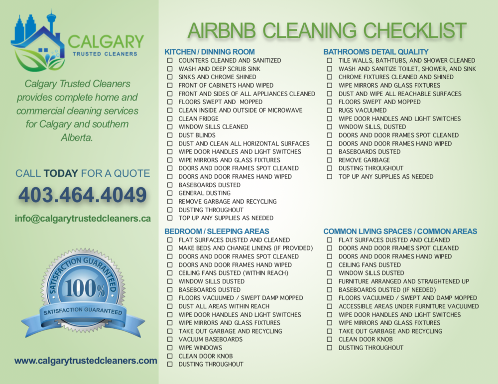 (Click To Enlarge Our Airbnb & Short-term Rental Cleaning Checklist)