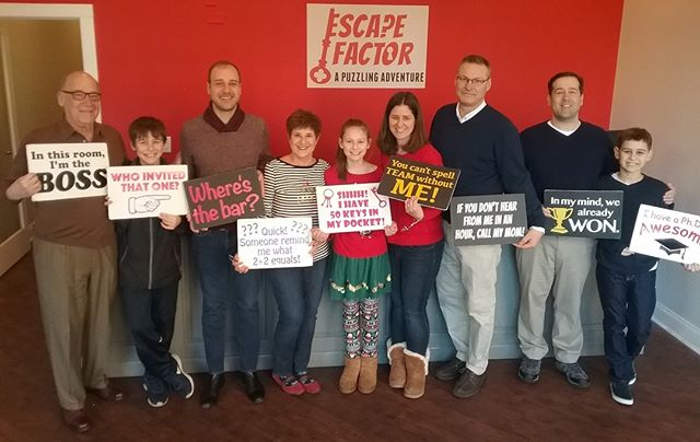 Another great day of puzzle-solving here at Escape Factor! Book now for your own day of fun!