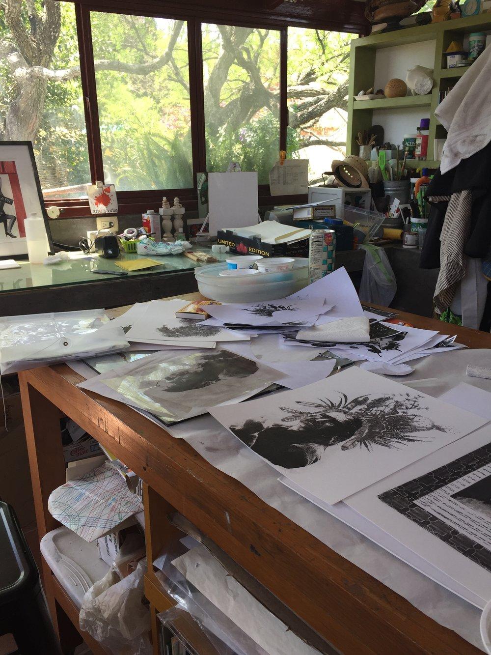 Linda Soberman's studio in San Miguel