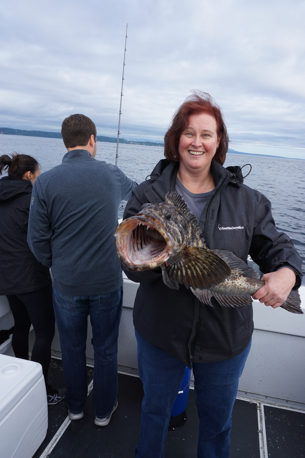Jo landed this nice Ling after hooking (and releasing) a number of Rock Fish.
