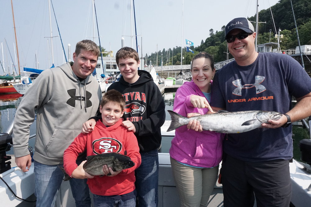 Sammy brought this King in SOLO- by himself!  10 pounds of fighting King Salmon!