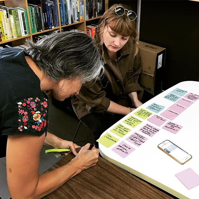 We're gonna need more post-its! VR Audience Experience researcher Katy Newton helps us with the story matrix of a new room-scale VR piece we're developing. #vr #virtualreality #postit #design #audienceexperience #axdesign #designresearch