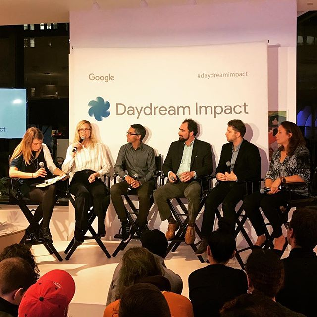 Launch event for Google VR Daydream Impact, a new initiative to enable social impact groups and creators with VR tools. #googlevr #googlepopup #googledaydream #vr #virtualreality #jumpcam #360video #daydreamimpact