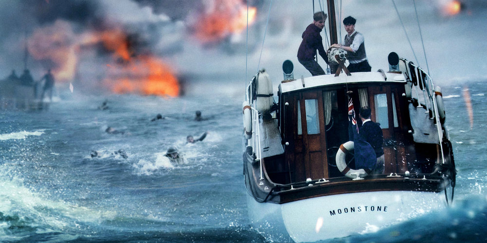 Civilians pilot a yacht to Dunkirk in  Dunkirk .