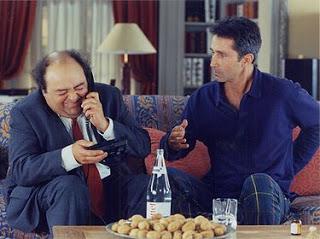 Francois Pignon (Jacques Villeret)with Pierre Brochant (Thierry Lhermitte).