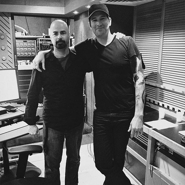 Michael Bross with engineer Jesse Nichols