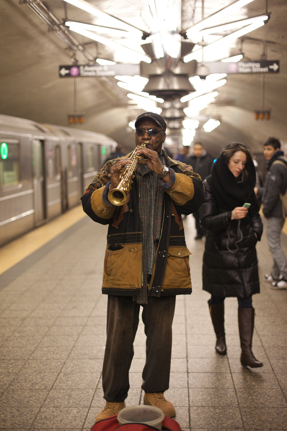 Sax Man By The 7, Grand Central