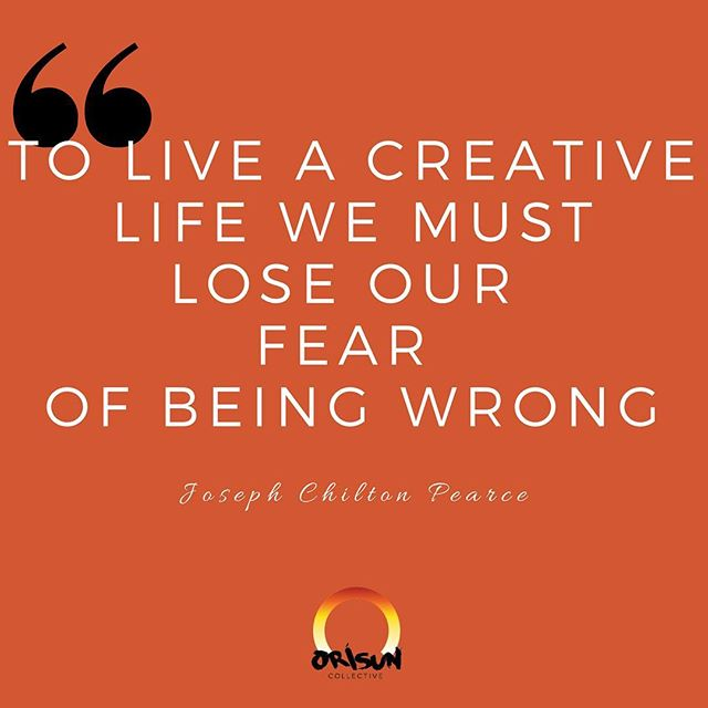 Don't give fear the power. Your creativity is your power, and it is never wrong 💡