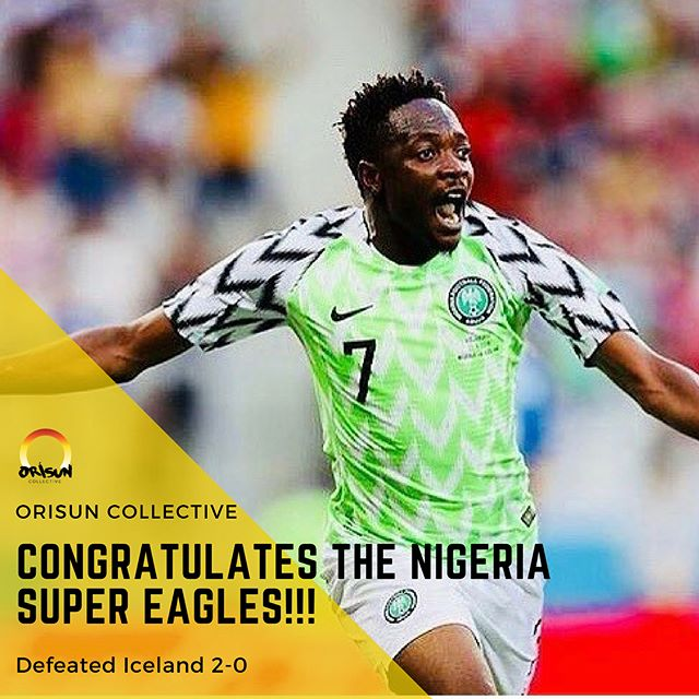 We did it!! #NaijaPride 🇳🇬🇳🇬🇳🇬 @ng_supereagles #Nigeria #SuperEagles #NaijaNoDeyCarryLast