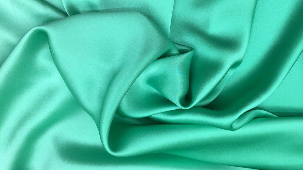 True Teal Charmeuse Silk