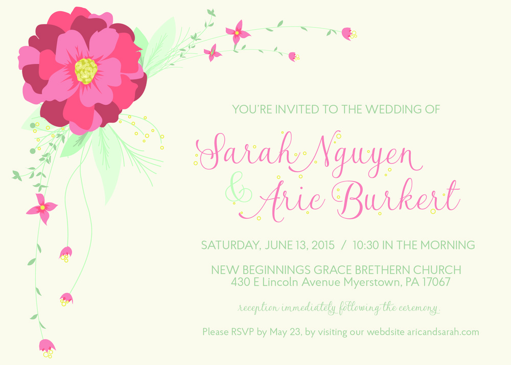 Burkert Wedding Invitation