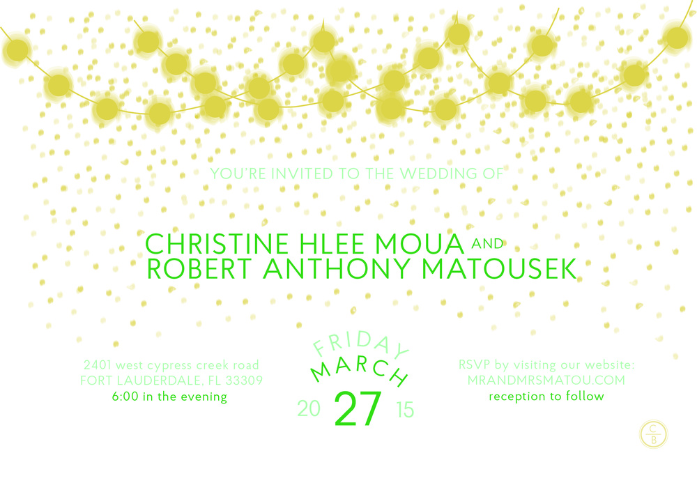 Matousek Wedding Invitation