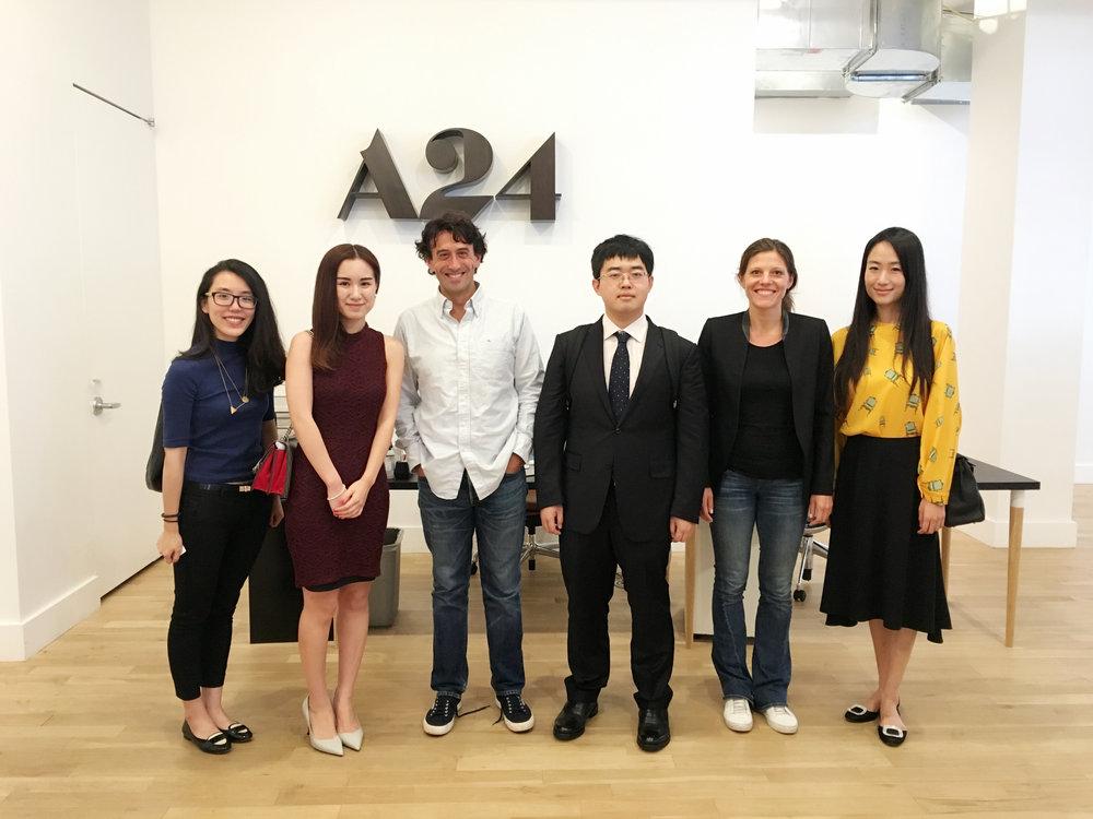 Vantage总裁Michelle Yang受邀到访A24总部