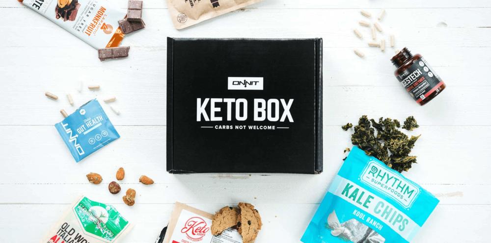 ONNIT Keto Box - Keto friendly snacks, supplements, recipes