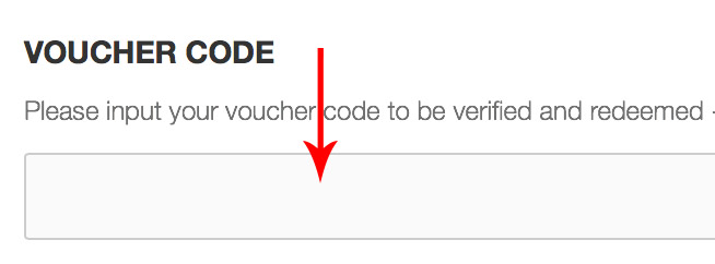 Input your voucher code here on the booking forms