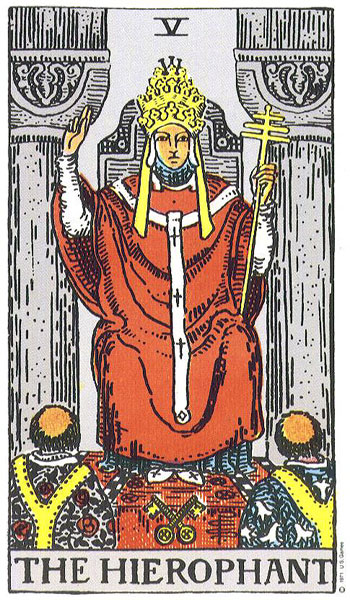 The Hierophant, Rider-Waite-Colman-Smith deck