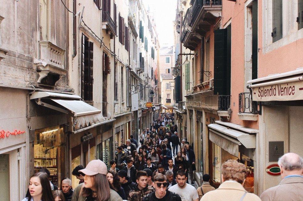 venice tourist street vacation