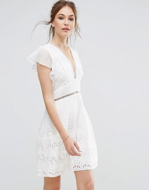 french connection summer dress white