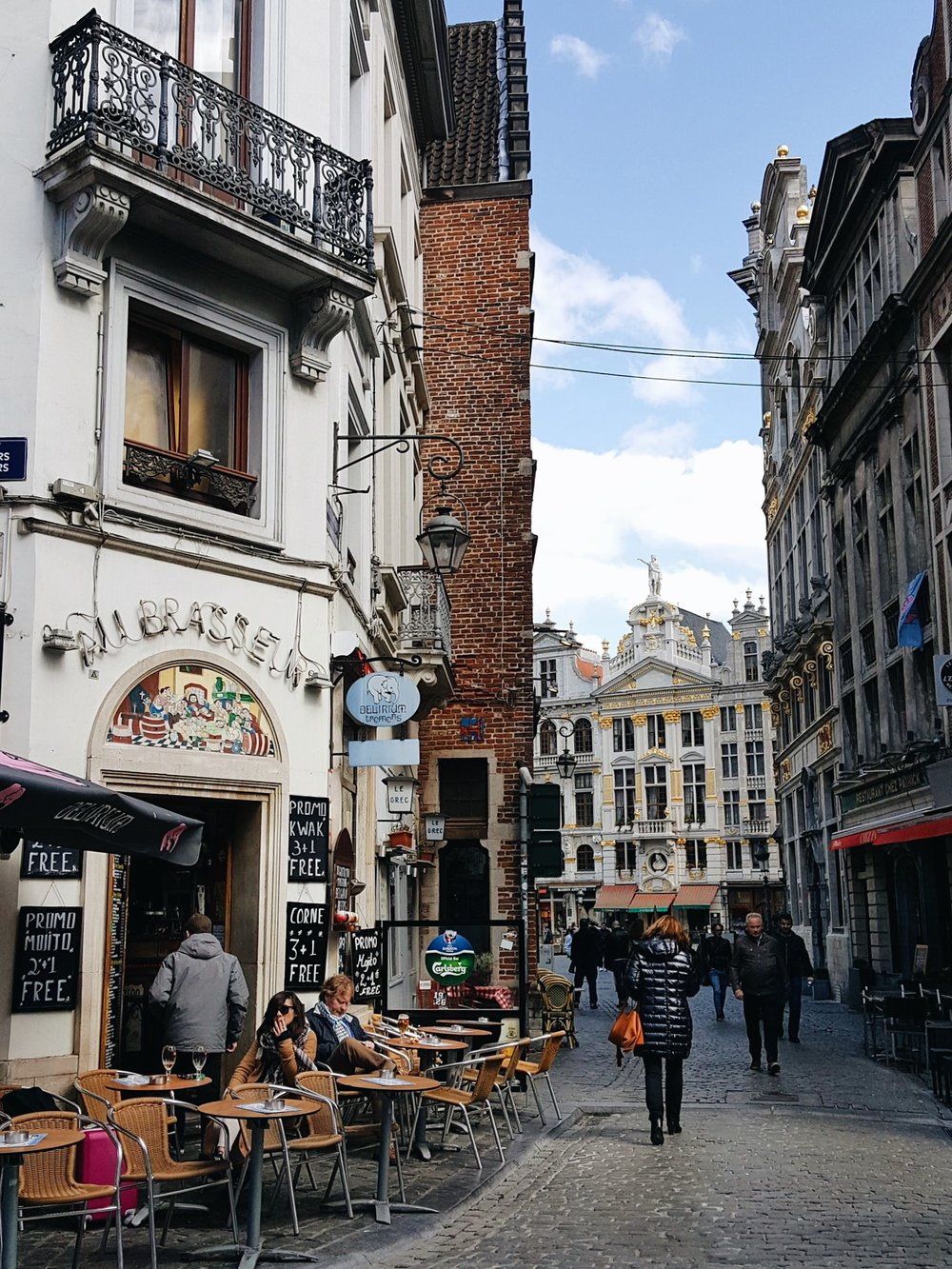 Brussels streets traveling