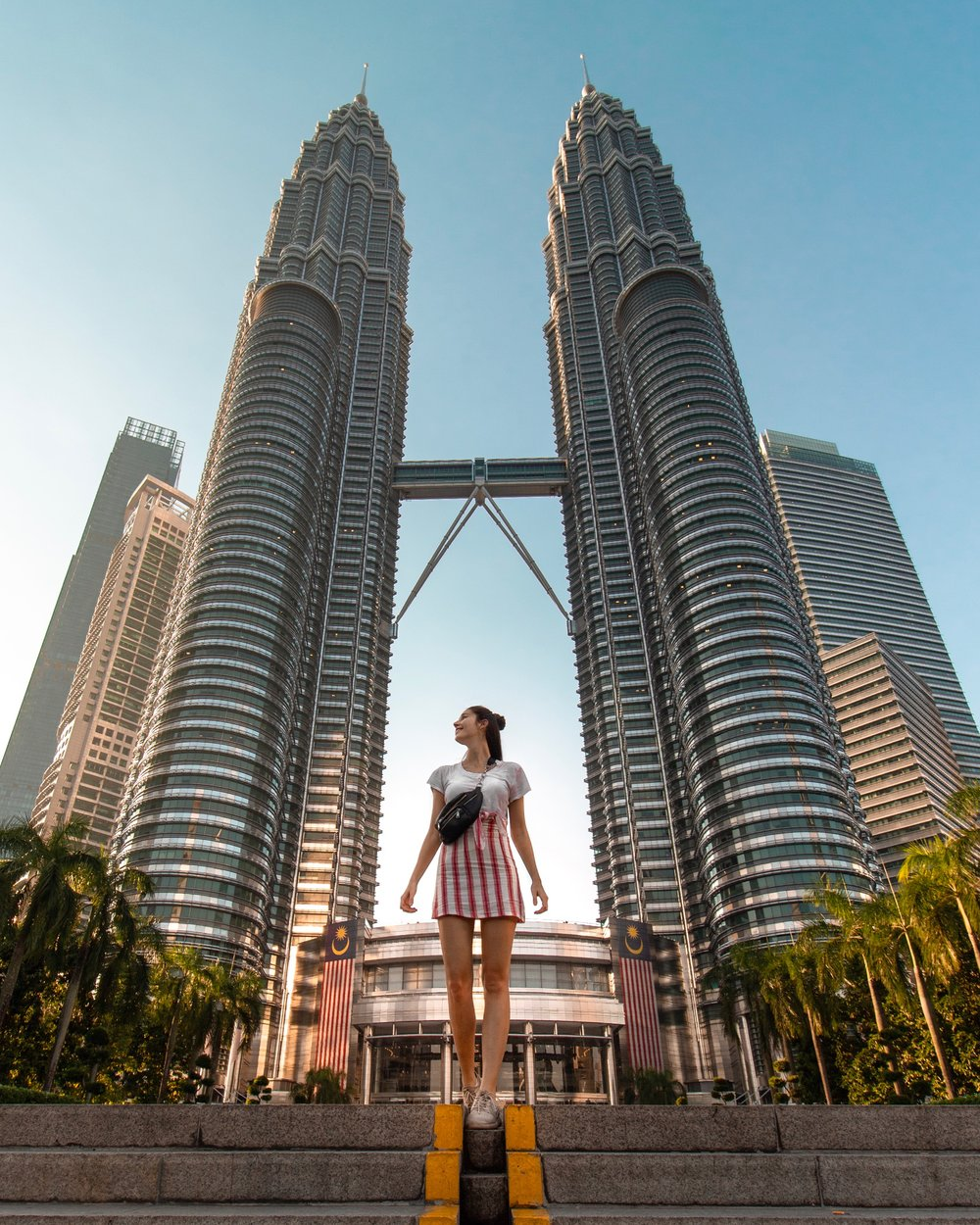 KL Towers - Taken 6:30 AM with my Tripod and my CANON. The day before I checked the location story and saw that this place is awfully crowded at sunset so I decided to go very early - and I had the whole place for myself! - More about   Kuala Lumpur most instagrammable spots here