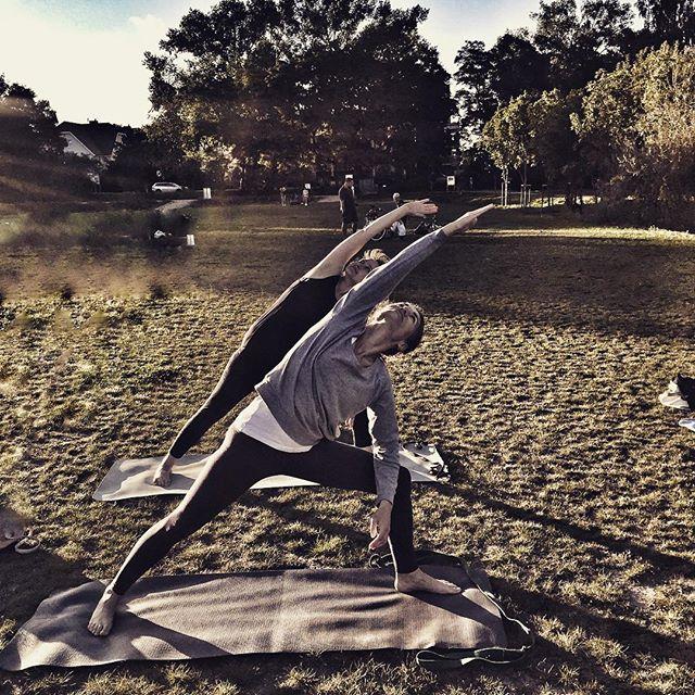Idziemy na jogę - sobota godz 10 Błonia 🙏🏻😎👣🌿☀️#jogasopot #joganatrawie #jogawsopocie #yogapose #utthitaparsvokonasana