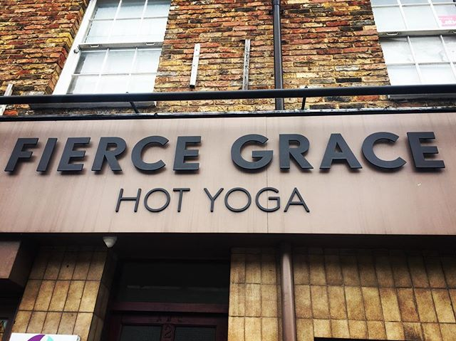 Spending time with #fiercegrace this time #hotyoga #londonyoga #yogateacher on the lookout for #inspiration #sweat and #strength