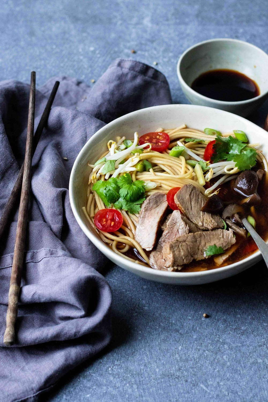 Beef ramen - food styling & photography