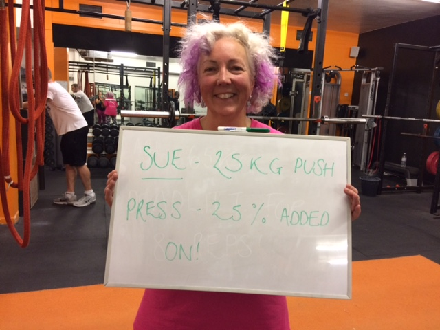 Sue Paulley - 'I first starting working with Amy in August 2016. I'd lost 4 stone ready to have a massive breast reconstruction operation and then knew I needed to sort out stomach muscles (2 caesareans) and chest muscles (a double mastectomy). I wanted to be super-fit with the best muscles I could have before the op in 8 months time.It has been better than I could ever have imagined. I was very panicky going to my first session but she completely set me at ease. She's only the 2nd personal trainer I've ever met who gets that it's as much about the mind as the body and this is particularly so for me. She always works at the right pace for me and instinctively knows what will work, both for my body and mind.She's always encouraging and gets excited with me when things go well. I feel like a new person and I LOVE it! Go for it. You've nothing to lose and everything to gain. She's amazing!'