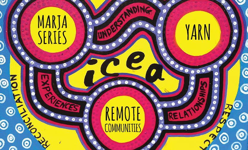 This diagram was painted by Ray and Aiden Albert, a mother and son who are Bardi Nyul Nyul people from the Kimberley. The diagram demonstrates the way in which ICEA's programs work together to create the experiences, relationships and understanding necessary to foster reconciliation and respect between young Australians.
