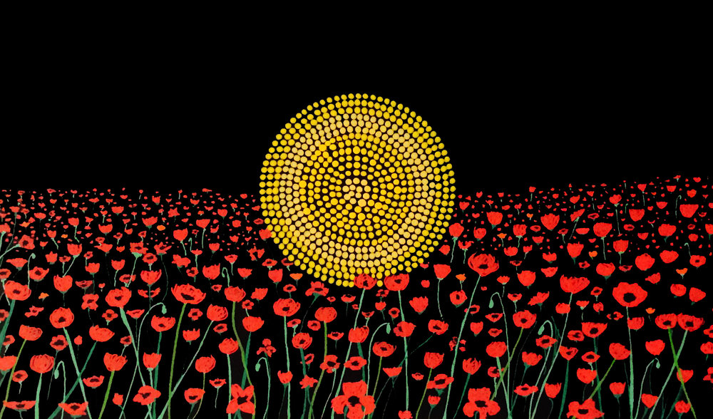 Artwork via Lee Anthony Hampton from  Koori Kicks Art .