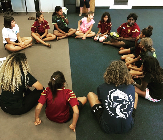 We've been working with the student council team at Christ The King school in Lombadina. Yarning all things leadership, team work & respect in their roles as leaders in the school 🙌🏾 our yarns with students allowed for open conversation for young people to identify strengths and weaknesses regarding personal development and how that relates to working in teams 😊 we also brought back a classic: Go Go Stop ✅❌😁