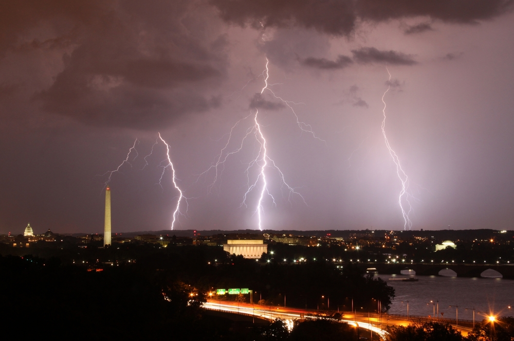 Lightning over D.C. -- Washington, D.C.