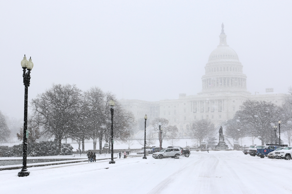 Capitol snow -- Washington, D.C.