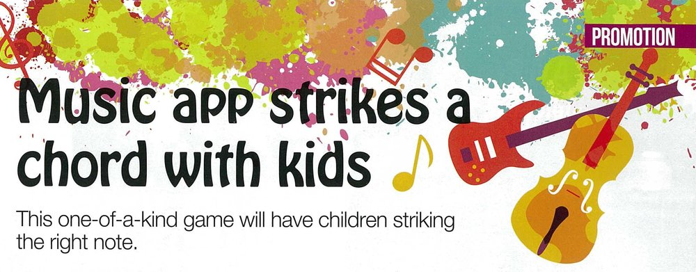 Expat Parent (December, 2016) Music app strikes a chord with kids