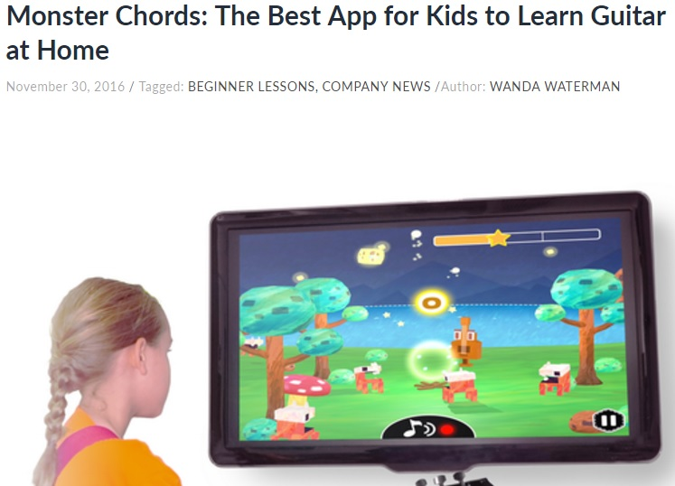 Uberchord (November 30, 2016) Monster Chords: The Best App for Kids to Learn Guitar at Home