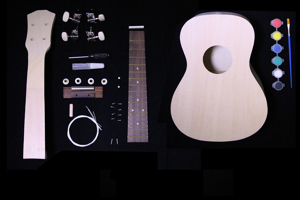 PLUCKER - The colorful guitar to get kids started in guitar learning