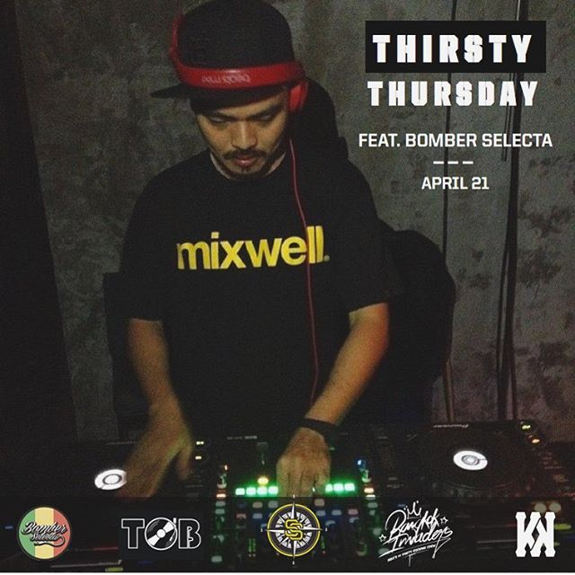 @DJTOB and @twopee convinced Bangkok's OG spin master @bomberselecta to join us tomorrow for another epic #ThirstyThursday party.  @twopee และเพื่อนๆจะมาจัดบีทฮิปฮอป เร็กเก้ R&B แบบสุดชิล กับเพลงที่เลือกมากับมือ@djtobเอง แจมด้วยDJ Bomber Selecta อีก  สุดแน่นอนปาร์ตี้พฤหัสนี้ที่Knock  Where: Knock b/w Thonglor 15 & 17 When: Thursday, April 21st Time: 18:00 - Late #knockbkk #kitchenandkicks
