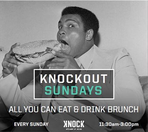 Join us tomorrow here at Knock and catch our 'all you can eat' Sunday Brunch for 1,000 THB ( w/ free-flow alcohol 1,500 THB) from 11:30am to 3:00pm. #KnockOutSundays  ก่อนจะหมดวันหยุดสงกรานต์นี้ มาฉลองส่งท้ายกับ Knockout Brunch วันอาทิตย์นี้แบบ All You Can Eat ในราคา 1,000 บาท (หรือ 1,500 บาท แบบแอลกอฮอลล์ไม่อั้น) ตั้งแต่เวลา 11.30 ถึงบ่าย3โมง  Reservations highly recommended || จองโต๊ะ 098-815-6625  สถานที่/Where: @knock_bkk b/w Thonglor 15 & 17  วัน/When: Sunday, April 24  เวลา/Time: 11:30am - 3:00pm