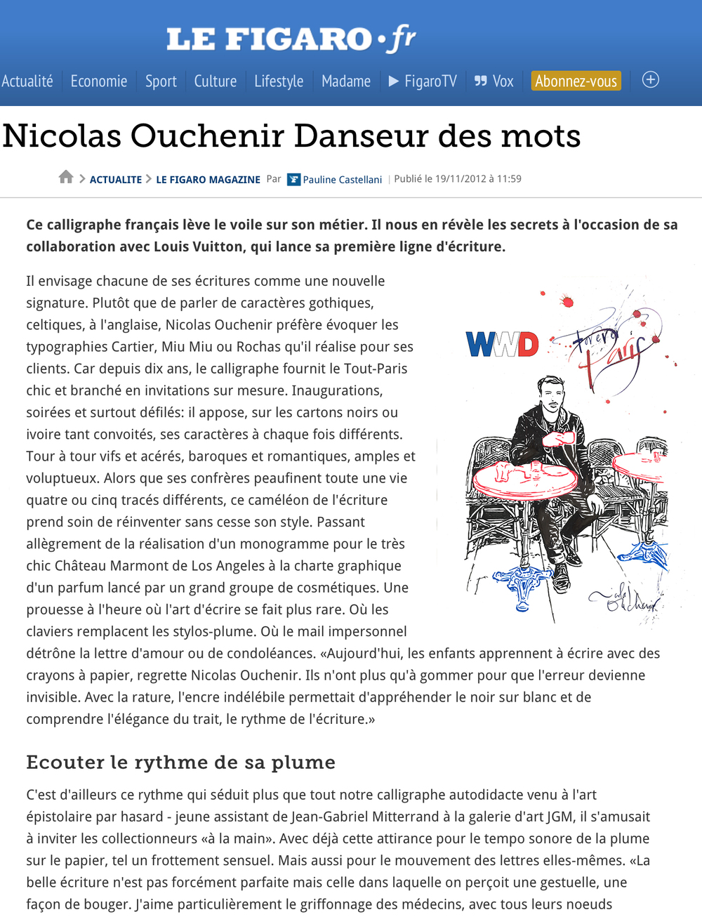 Le Figaro - November 2012