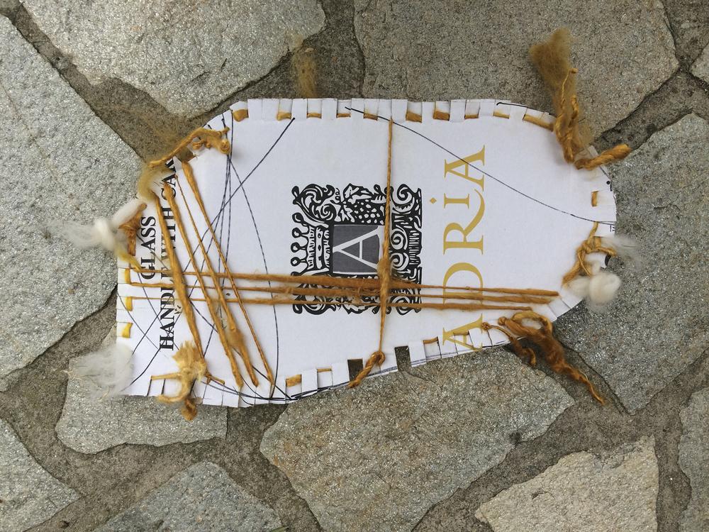 Weaving on cardboard - back