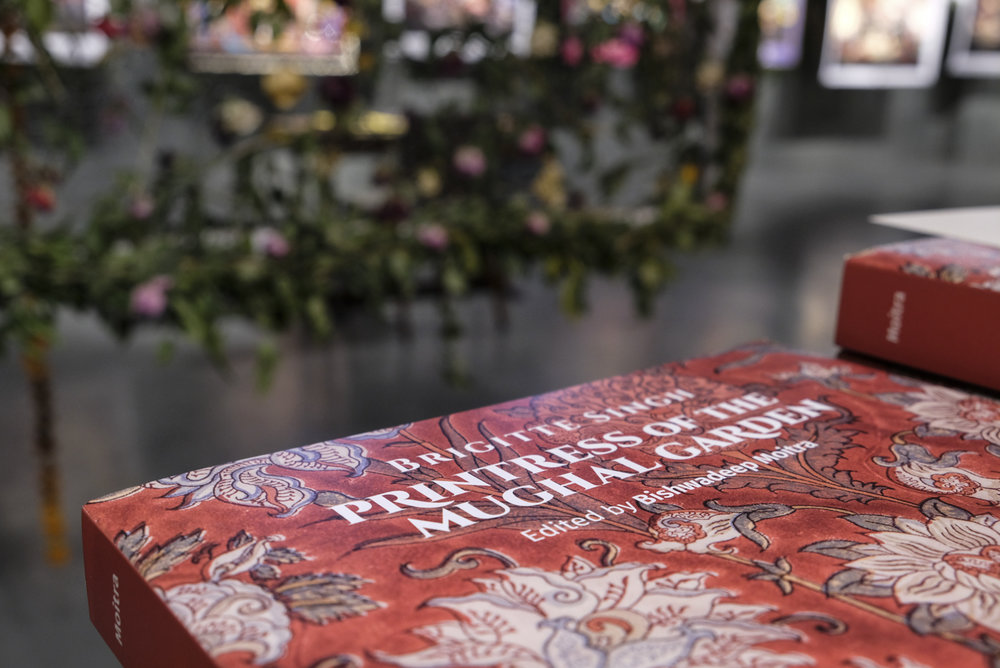 Brigitte singh's book printress of the mughal garden was launched during the literature festival
