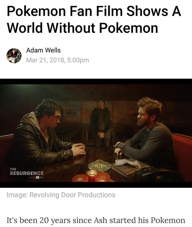 Nice little write up on @kotakuau thanks so much for featuring our film guys!!! Go watch the film today link is in bio!! Don't forget to subscribe and share 😃 #pokemon #fanfilm #postapocalyptic @theresurgencemovie #kotaku @kotakudotcom