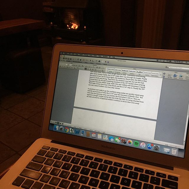 Working on getting more films out in the world. It all takes time but found a really great little spot to get my creativity on with the little wood fire in front of me and a rum in my hand inspiration is only a moment away! #writing #writer #inspiration #work #relax #enjoy #filmmaking #revolvingdoorproductions