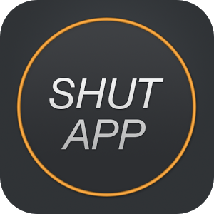 Click the ShutApp logo to get the app on you Android device.