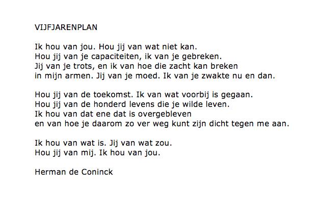 Vijfjarenplan Herman Coninck