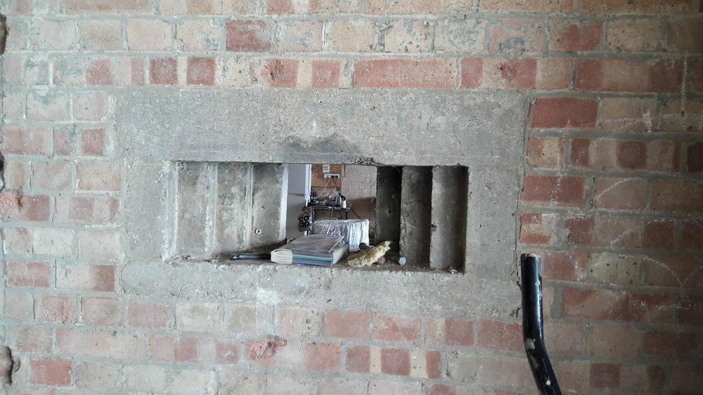 Cast concrete gun loop