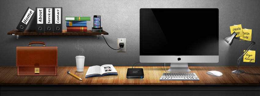 Graphic-Design-Desk